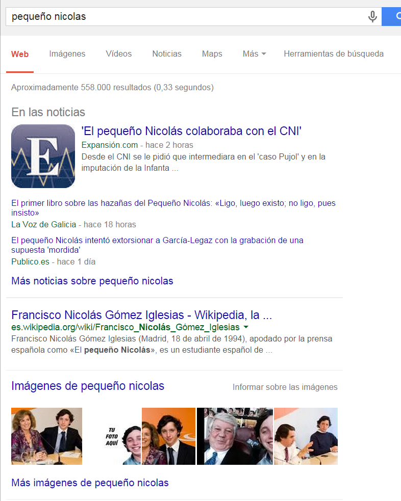 Google news en la red
