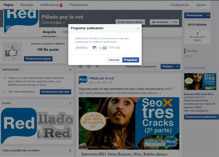 facebook y el seo