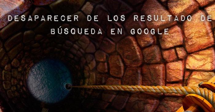desaparecer busquedas de google