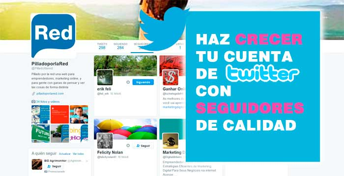 conseguir follows twitter
