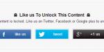 Social Locker en Blogger, Mejora tus Redes Sociales.